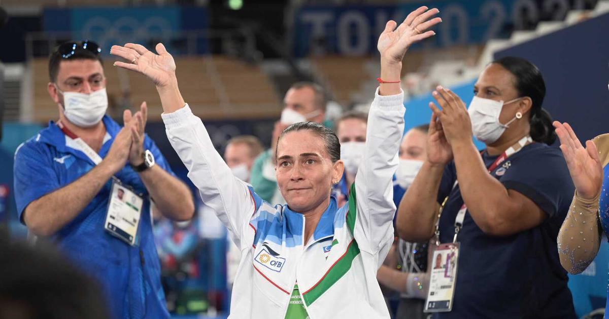 oksana chusovitina ući će u povijest 46 godišnja gimnastičarka se nakon osam olimpijskih igara oprostila od karijere